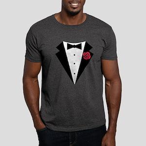 Funny Tuxedo [red rose] Dark T-Shirt